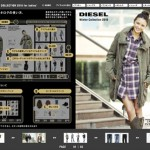 "MARUI WEB CHANNEL ""diesel"" catalogue page flash for ladies"